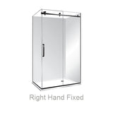 ACRYLIC LUXURY FRAMELESS SLIDING SHOWER KIT - 2 SIDED