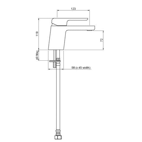 METHVEN KIRI BASIN MIXER