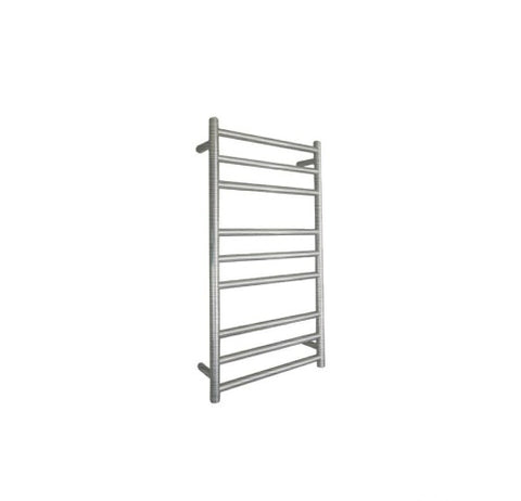 ELITE ROUND HEATED TOWEL LADDER 900X500MM BRUSHED FINISH