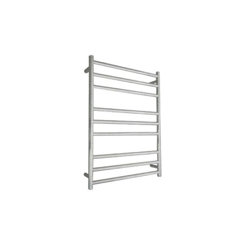 ELITE ROUND HEATED TOWEL LADDER 900X650MM BRUSHED FINISH