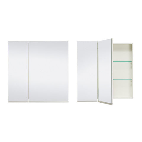 ST MICHEL DANTE DEEP PLUS MIRROR CABINET WHITE 750MM