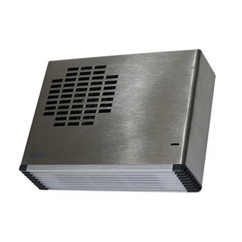 weiss wall mounted fan heater brushed stainless steel. Black Bedroom Furniture Sets. Home Design Ideas