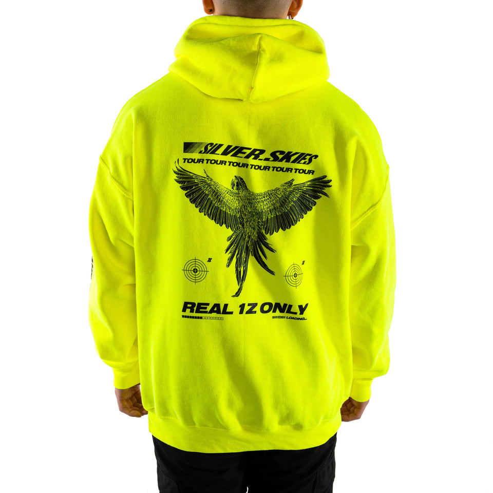 'Silver Skies Tour' Hoodie (Volt Yellow)