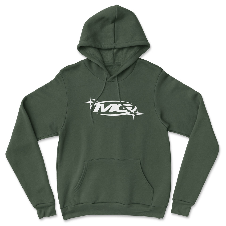 KNIGHT STAR Logo Embroidered Hoodie (Forest Green)