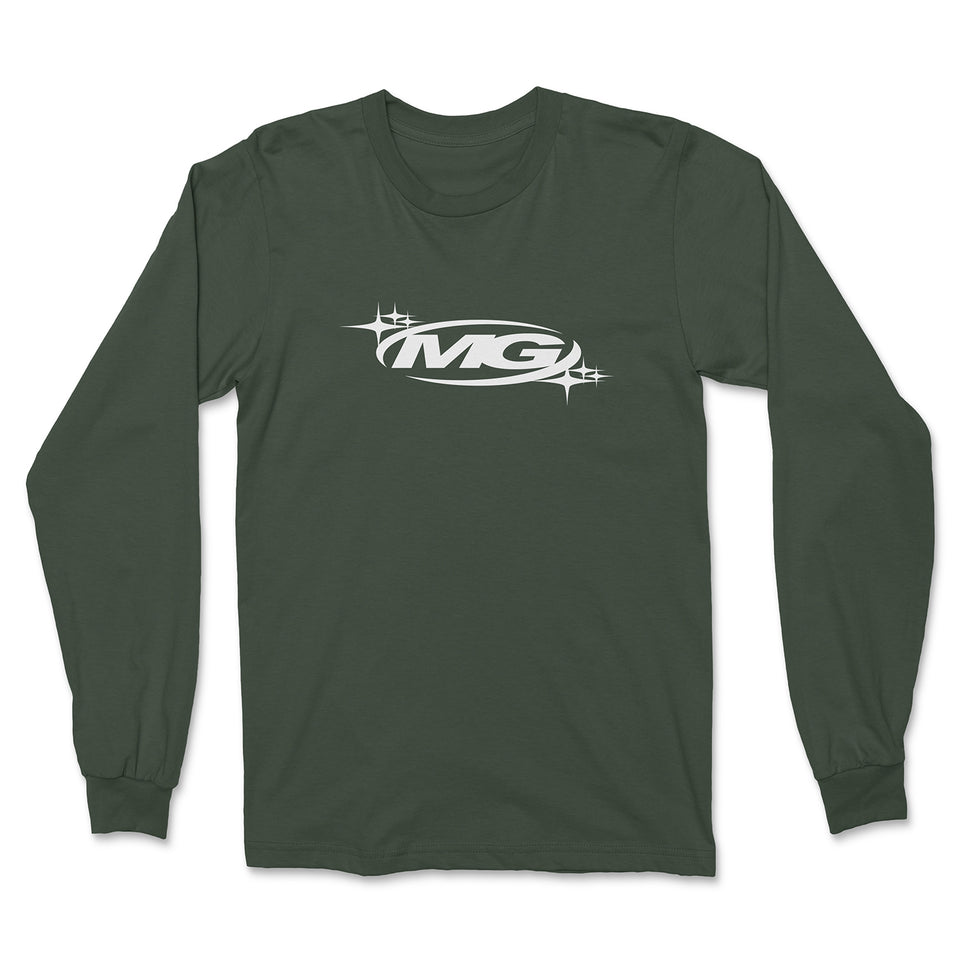 KNIGHT STAR Logo Embroidered Long Sleeve T-Shirt (Forest Green)