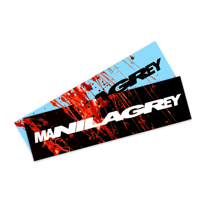 'MANILA GREY' Stretcher Logo Sticker (2 Pack) *Limited Halloween Edition*