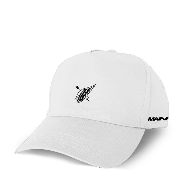 White 'No Saints' Cotton Twill Cap