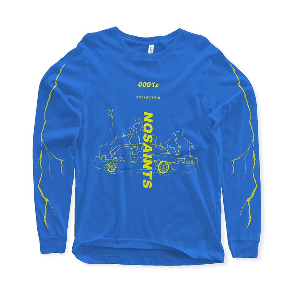 'No Saints' Silver Skies Exclusive Long Sleeve T-Shirt