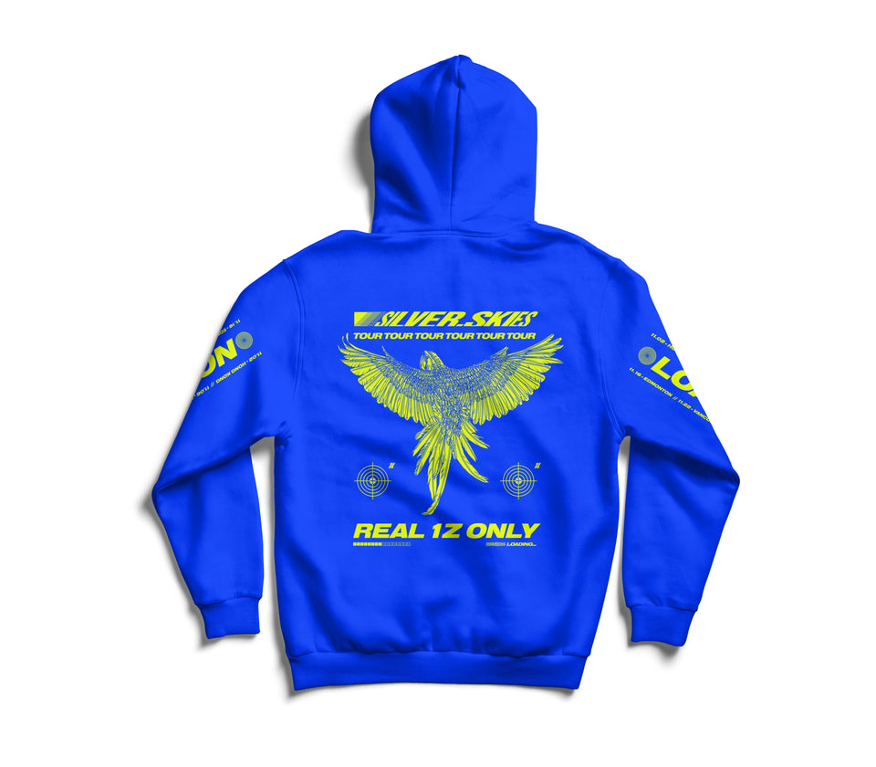 'Silver Skies Tour' Hoodie (Royal Blue)