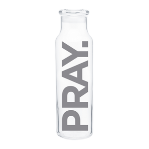 PRAY. Water Bottle (Gray) - 22oz