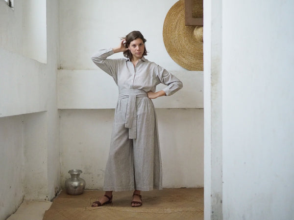 HAKAMA PANTS WITH STRIPES