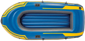 Intex Challenger 2-Person Inflatable Boat Set with French Oars and High Output Air Pump…