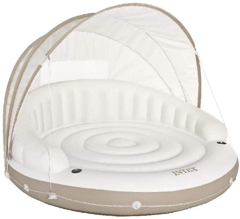 "Image of Intex Canopy Island Inflatable Lounge, 78"" X 59"""
