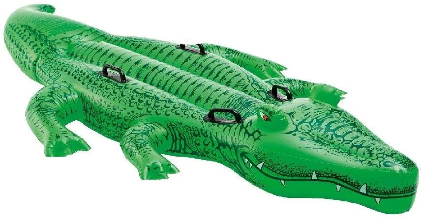 "Intex Giant Gator Ride-On, 80"" X 45"", for Ages 3+"