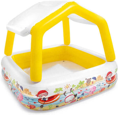 "Image of Intex Sun Shade Inflatable Pool, 62"" X 62"" X 48"", for Ages 2+"