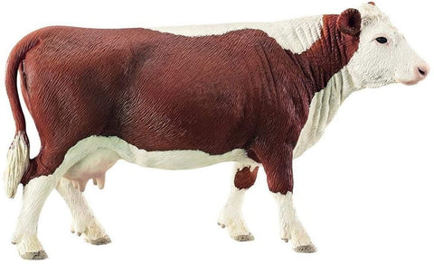 Image of Schleich Farm World Hereford Cow Educational Figurine