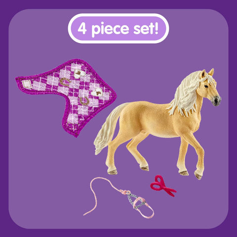 Image of Schleich Horse Club Sofia's Fashion Creation for Andalusians 3-Piece Educational Playset