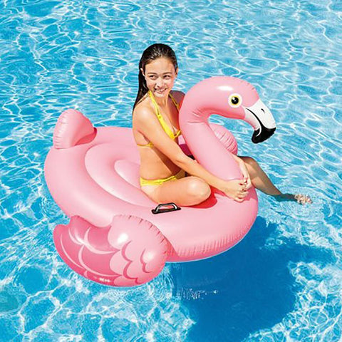 "Image of Intex Flamingo Inflatable Ride-On, 56"" X 54"" X 38"", for Ages 3+"