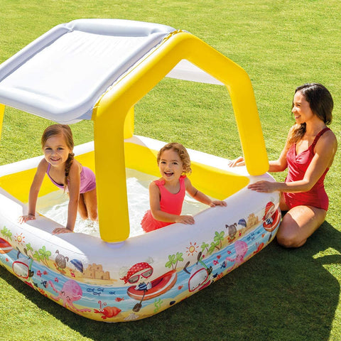 "Intex Sun Shade Inflatable Pool, 62"" X 62"" X 48"""