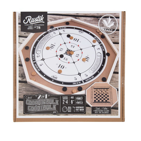 Image of Crokinole De Luxe 2 Games in 1