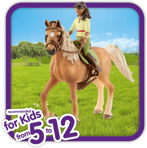 Schleich Horse Club Horse Club Sarah and Mystery Educational Figurine