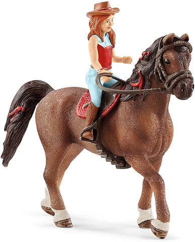 Image of Schleich Horse Club Horse Club Hannah and Cayenne Educational Figurine