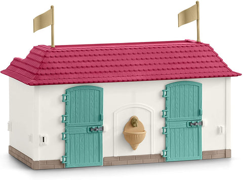 Image of Schleich Horse Club Lakeside Country House and Stable 70-Piece Educational Playset