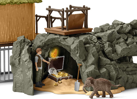 Schleich Wild Life Croco Jungle Research Station 69-Piece Educational Playset