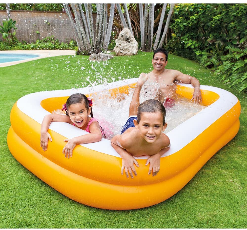 "Intex Mandarin Swim Center Family Pool, 90"" x 58"" x 18"", for Ages 6+"