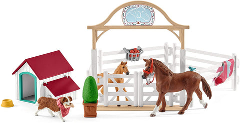 Schleich Horse Club Hannah's Guest Horses with Ruby The Dog 20-Piece Educational Playset