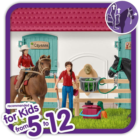 Schleich Horse Club Lakeside Country House and Stable 70-Piece Educational Playset