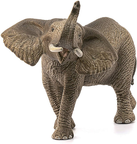 Image of Schleich Wild Life African Elephant Male Educational Figurine