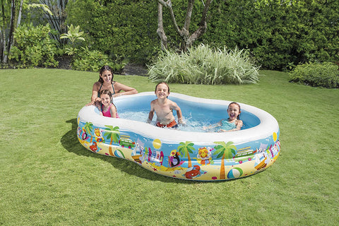 "Image of Intex Swim Center Paradise Inflatable Pool, 103"" X 63"" X 18"", for Ages 3+"