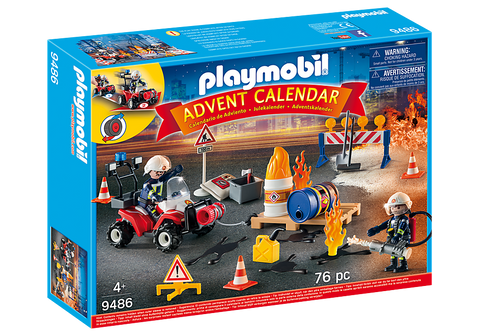 Playmobil 9486 Advent Calendar - Construction Site Fire Rescue