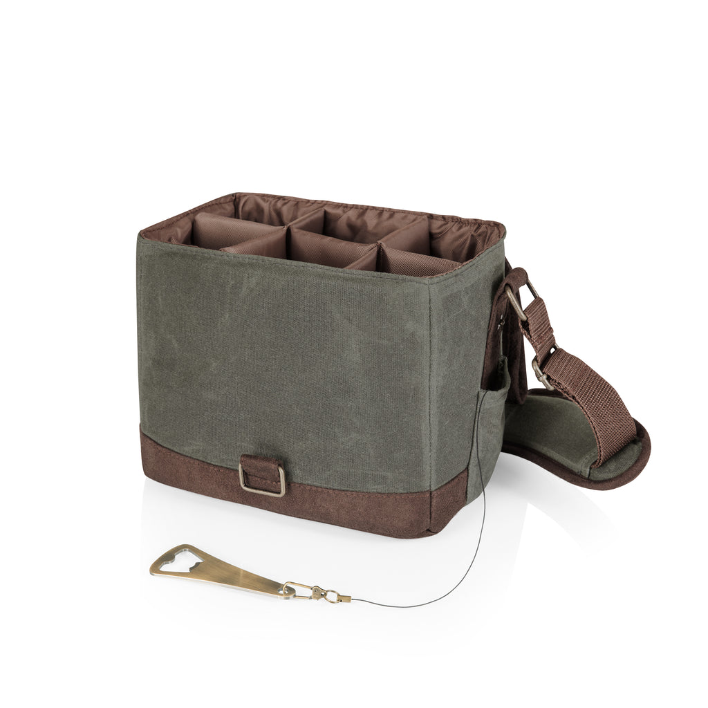 Beer Caddy - Khaki/Brown