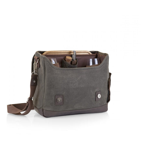 Image of Adventure Wine Tote - Khaki/Brown