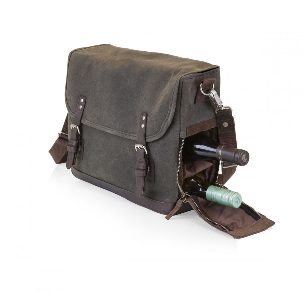 Adventure Wine Tote - Khaki/Brown