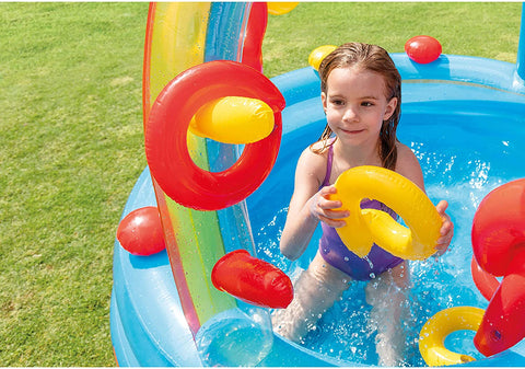 "Intex Rainbow Ring Inflatable Play Center, 117"" X 76"" X 53"""