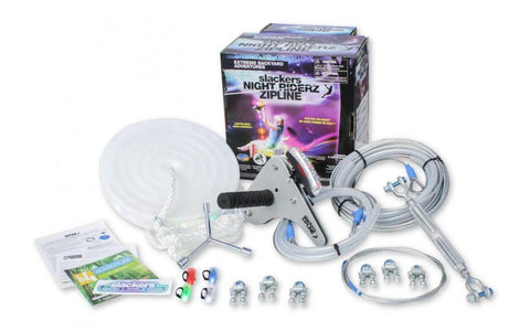 Slackers 100' Night Riderz Zipline Kit With LED Seat