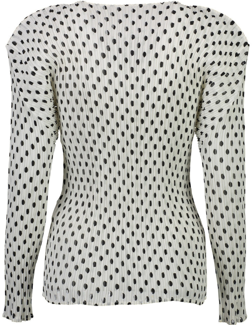 Pleated Dots Top