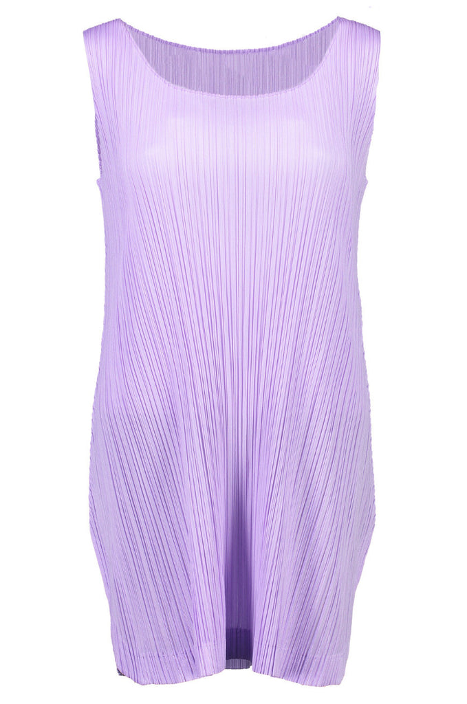 Lilac Pleated Mini Dress