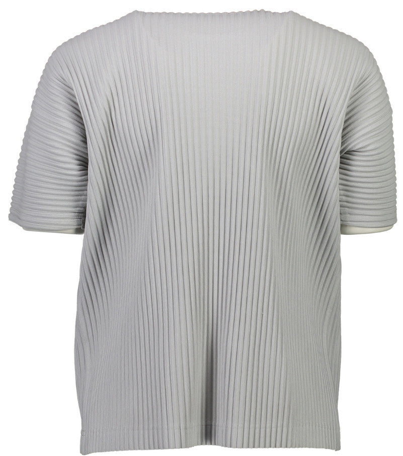 Grey Pleat Tee
