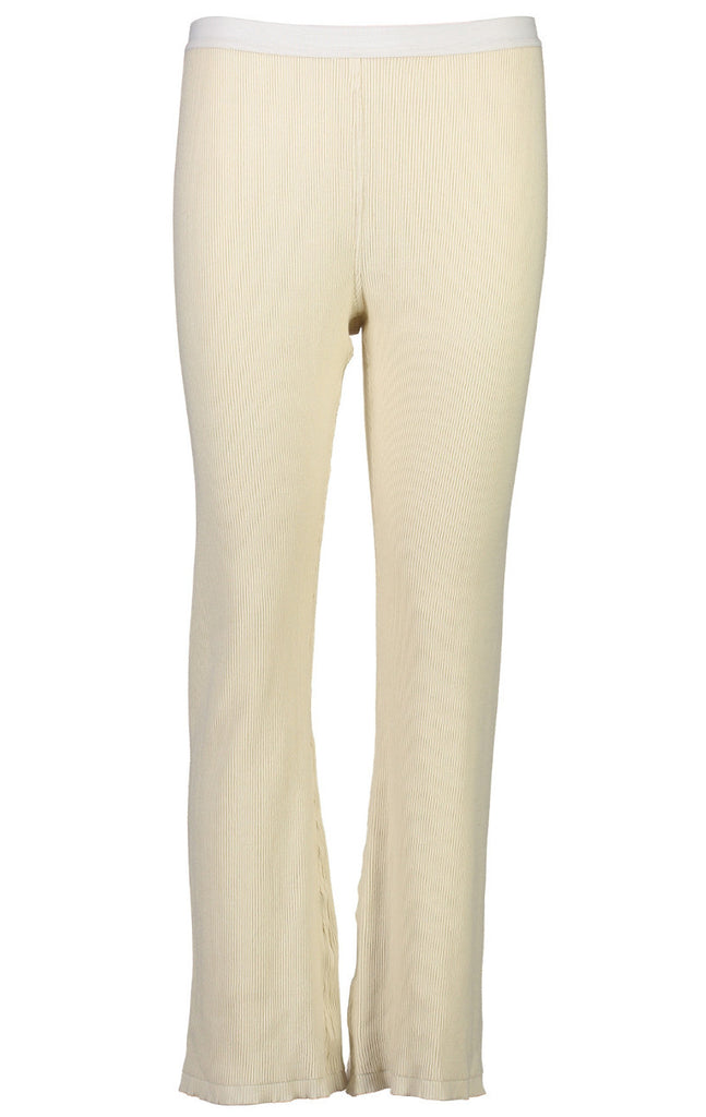 Ribbed Knit Flare Pant