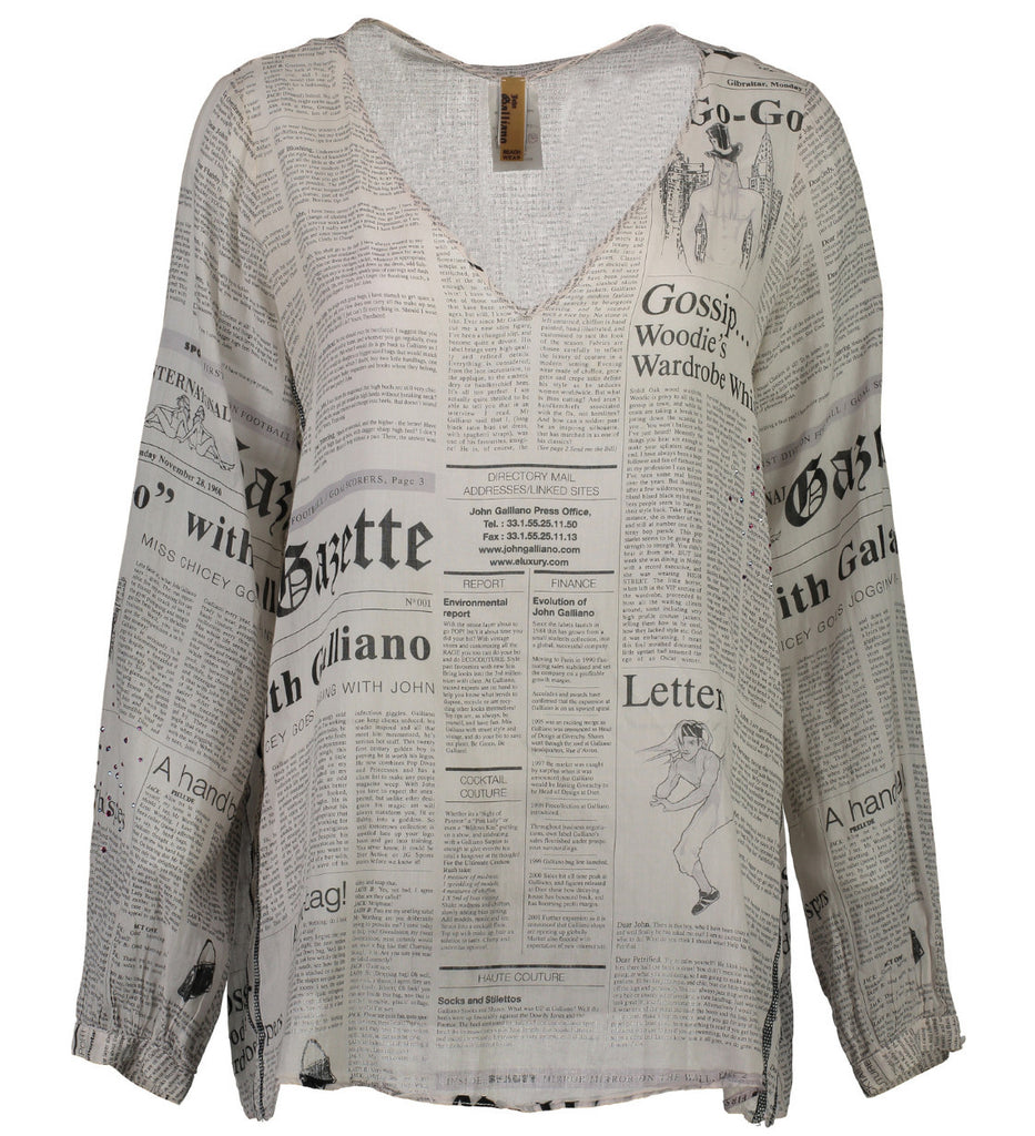 Newspaper Blouse