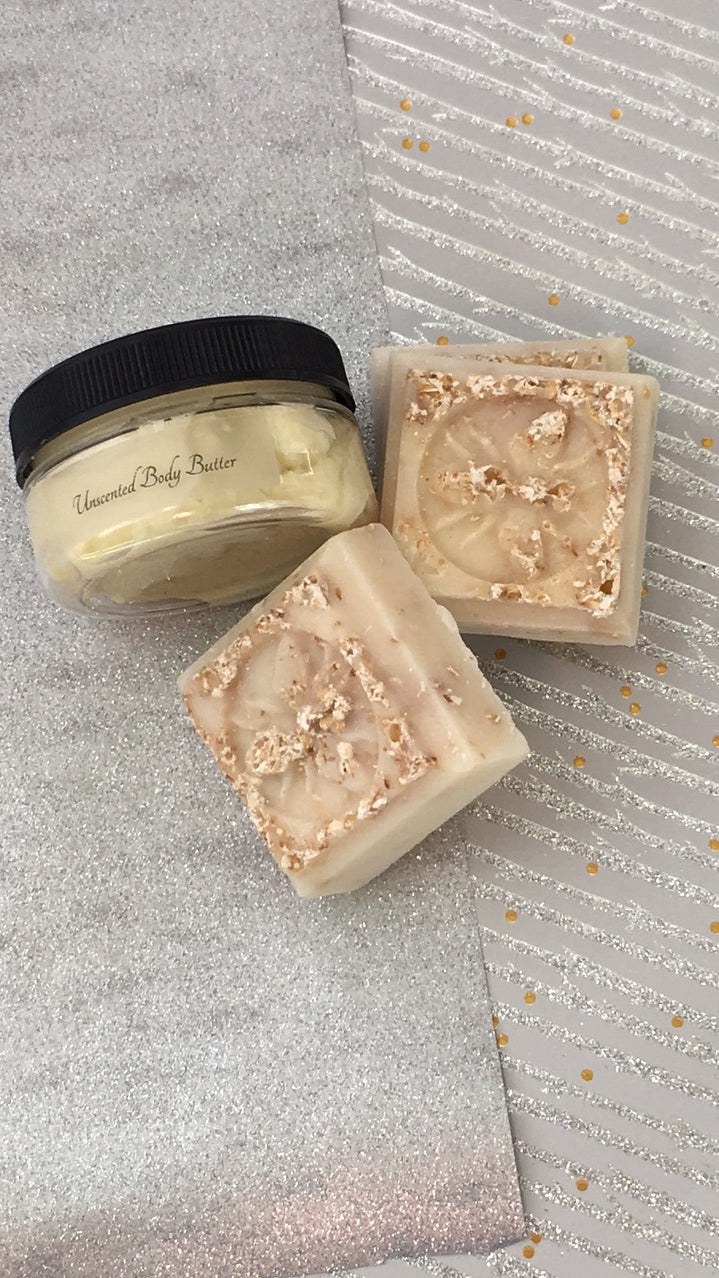 Homemade Soap and Shea Butter Gift Set