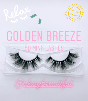 Golden Breeze Vacation Luxury Mink Lashes