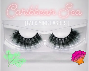'Caribbean Sea' Silk lashes