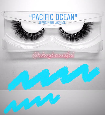 'Pacific Ocean' Silk lashes