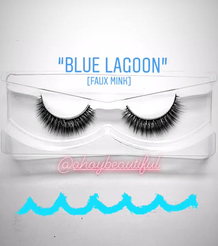 'Blue Lagoon' Silk lashes