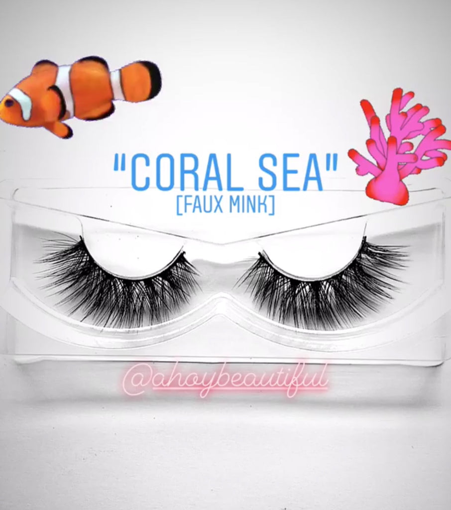 'Coral Sea' Silk lashes